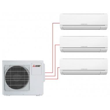Мультисплит система MITSUBISHI ELECTRIC MSZ-HJ25VA-ER1×2 + MSZ-HJ35VA-ER1 / MXZ-3HJ50VA-ER1