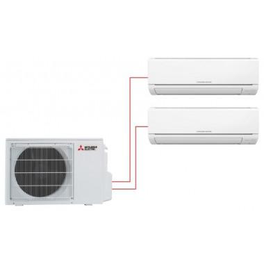 Мультисплит система MITSUBISHI ELECTRIC MSZ-HJ25VA-ER1×2 / MXZ-3HJ50VA-ER1